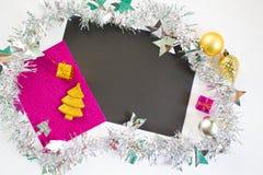Kerstmis of Nieuwjaarfotoachtergrond Royalty-vrije Stock Foto's