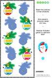 Kerstmis of Nieuwjaarschaduwspel met snuisterijen Royalty-vrije Stock Afbeeldingen