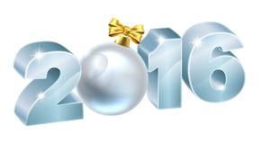 2016 Kerstmis of Nieuwjaarsnuisterij Royalty-vrije Stock Foto's