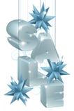 Kerstmis of Nieuwjaarverkoopornamenten Royalty-vrije Stock Fotografie