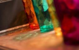 Kerstmis of Nieuwjaren het kleurrijke van de groetkaart beeld met exemplaarruimte Stock Foto