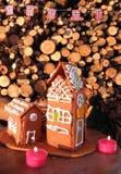 Kerstmis in Noorwegen royalty-vrije stock foto