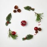 Kerstmis om frame Stock Foto