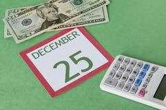 Kerstmis op een Begroting stock afbeeldingen