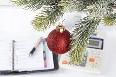 Kerstmis op het kantoor Stock Afbeeldingen