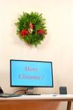 Kerstmis op het kantoor Royalty-vrije Stock Foto