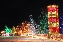 Kerstmis op het Landbouwbedrijf Stock Foto