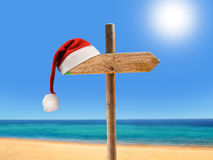 Kerstmis op het strand Stock Afbeelding