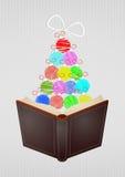 Kerstmis open boek Stock Foto