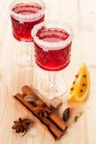 Kerstmis overwogen wijn Royalty-vrije Stock Afbeelding