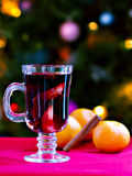 Kerstmis overwogen wijn Royalty-vrije Stock Foto's