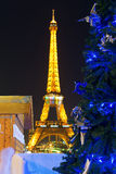 Kerstmis in Parijs Royalty-vrije Stock Foto's