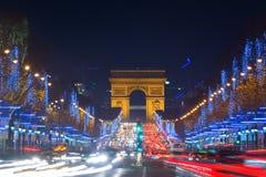 Kerstmis in Parijs Stock Afbeelding