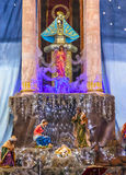 Kerstmis Parroquia Dolores Hidalgo Mexico van de altaarcrèche Stock Foto's