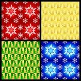 Kerstmis patronen Stock Afbeeldingen