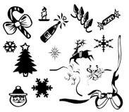 Kerstmis pictogram vector illustratie