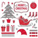 Kerstmis plaatst inzameling royalty-vrije stock afbeeldingen