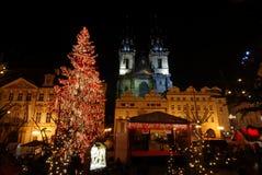 Kerstmis Praag Stock Afbeelding