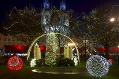 Kerstmis in Praag Royalty-vrije Stock Foto