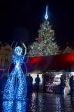 Kerstmis in Praag Royalty-vrije Stock Fotografie