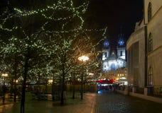 Kerstmis in Praag Stock Foto's