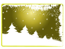 Kerstmis prentbriefkaar Stock Afbeeldingen