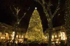 Kerstmis Quincy Market van Boston Royalty-vrije Stock Fotografie