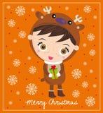 Kerstmis reideer Stock Afbeelding
