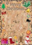 Kerstmis Retro Frame_eps Royalty-vrije Stock Foto's