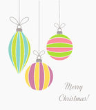 Kerstmis retro ornamenten royalty-vrije illustratie