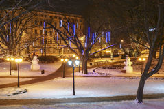 Kerstmis in Riga Royalty-vrije Stock Foto