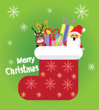 Kerstmis rode sokken Vector Illustratie