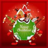 Kerstmis rond de wereld Stock Afbeeldingen