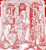 Kerstmis in rood vector illustratie