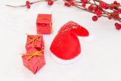 Kerstmis in rood Stock Afbeelding