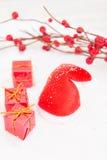 Kerstmis in rood Royalty-vrije Stock Foto