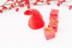 Kerstmis in rood Stock Fotografie