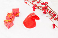 Kerstmis in rood Royalty-vrije Stock Afbeelding