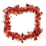 Kerstmis rood klatergoud royalty-vrije stock afbeelding