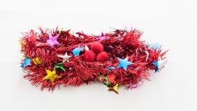 Kerstmis rood klatergoud Royalty-vrije Stock Fotografie