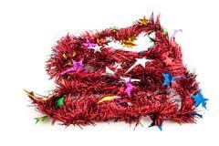 Kerstmis rood klatergoud Stock Afbeeldingen