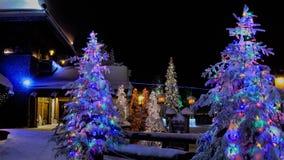 Kerstmis in Rovaniemi Royalty-vrije Stock Foto's