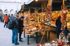 Kerstmis in Salzburg, Oostenrijk, Europa Royalty-vrije Stock Afbeelding