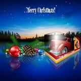 Kerstmis samengestelde illustratie stock illustratie