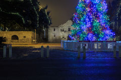 Kerstmis in San Antonio Texas Royalty-vrije Stock Foto
