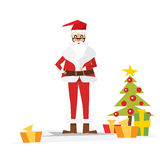 Kerstmis Santa Claus met Giftdoos Royalty-vrije Stock Foto