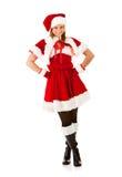 Kerstmis: Santa Elf Woman Royalty-vrije Stock Afbeeldingen