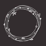 Kerstmis schetsmatige reeks Eps 10 Geen transparantie Kerstmiselementen, Kerstmiskader Stock Afbeelding