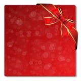Kerstmis schittert etiket met lint Royalty-vrije Stock Afbeelding