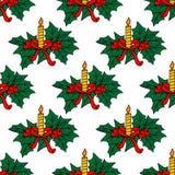 Kerstmis schouwt naadloos patroon vector illustratie